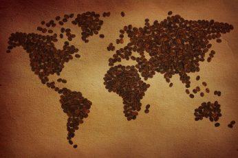 Coffee Beans World Map HD wallpaper, 1920×1200