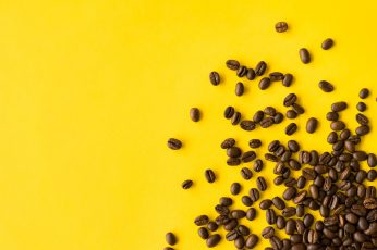 Coffee Beans wallpaper, brown, cafe, caffeine, flat design, foodie, room for text