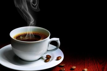 Coffee wallpaper, Coffee Beans, Cup, Hot Drink