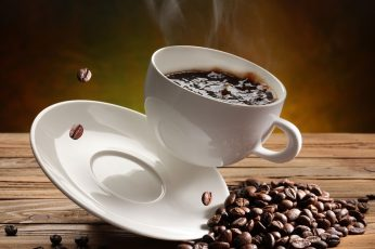 Coffee wallpaper, Coffee Beans, Cup