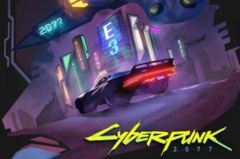 Cyberpunk 2077 wallpaper, The city, The game, Neon, Machine, Art, CD Projekt RED