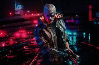 Video Game wallpaper, Cyberpunk 2077, Futuristic, Warrior