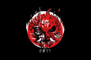 Cyberpunk 2077 wallpaper, CD Projekt RED, samurai, demon