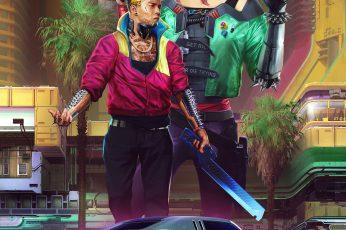 Cyberpunk 2077 wallpaper, CD Projekt RED, video games, digital art, car
