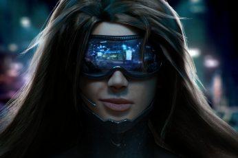 Cyberpunk wallpaper, Pilot, headsets