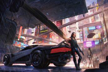 Johnny Silverhand wallpaper, Video Game, Cyberpunk 2077