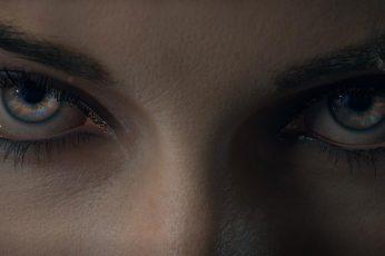 Black eyeshadow wallpaper, look, girl, cyborg, cyberpunk, Cyberpunk 2077