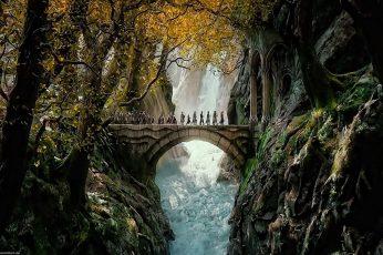 Adventure wallpaper, desolation, fantasy, hobbit, lord, lotr, rings, smaug