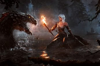 Cirilla Fiona Elen Riannon wallpaper, The Witcher 3: Wild Hunt, video games