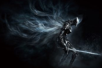 Dark Souls game wallpaper, character holding sword poster