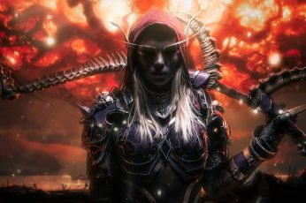 Fantasy girl wallpaper, dark fantasy, Blizzard Entertainment, World of Warcraft