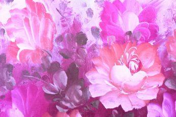 Petaled flower wallpaper, painting, roses, design, floral