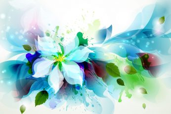 Abstract watercolor flower wallpaper, design, art, floral, decoration