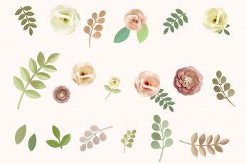 Pastel Floral wallpaper, Vintage, Abstract, Flowers, Rose, Design