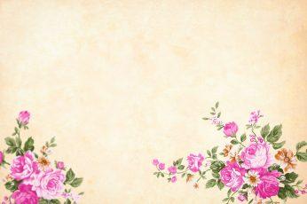 Vintage flower wallpaper, background, watercolor, floral, border, garden