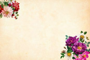 Vintage flower wallpaper, background, watercolor, floral, border, garden