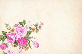 Flower wallpaper with copyspace, floral, border, garden frame