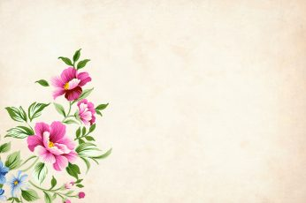 Blooming flowers wallpaper, background, floral, border, garden frame, vintage