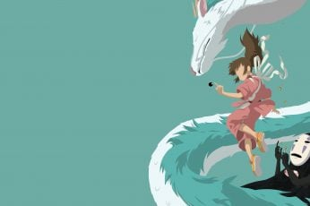 Spirited Away anime digital wallpaper, Chihiro, minimalism, copy space