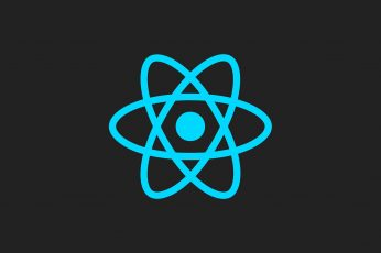 ReactJS wallpaper, Facebook, JavaScript, minimalism