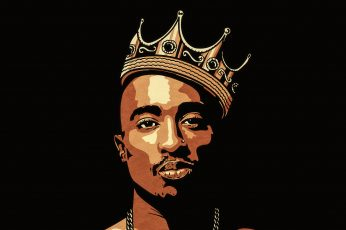 2Pac minimalism wallpaper, digital art, fan art, music, vector, Adobe Illustrator