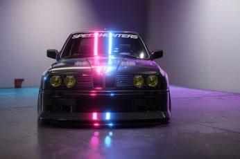 BMW M3 wallpaper, car, neon, vehicle, Speedhunters
