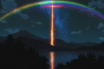 Neon Genesis Evangelion wallpaper, beauty in nature