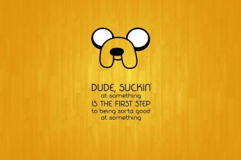 Quote Jake the Dog wallpaper, anime, yellow
