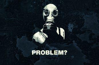 Quote gas masks wallpaper, human skeleton