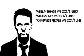 Quote wallpaper, Fight Club,
