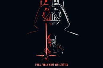 Darth Vader Kylo Ren Quotes 5K wallpaper