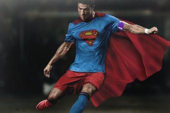 Wallpaper: Cristiano Ronaldo, Superman