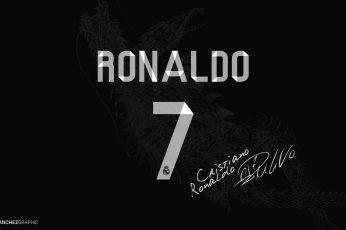 Cristiano Ronaldo 7 with signature wallpaper