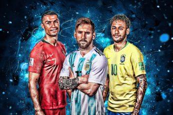 Soccer wallpaper, Cristiano Ronaldo, Lionel Messi, Neymar