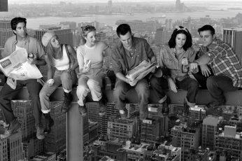 Chandler Bing wallpaper, David Schwimmer, Friends (TV Series), Jennifer Aniston