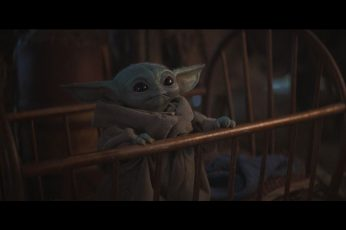 The Mandalorian wallpaper, Star Wars, Yoda, tv series, movie scenes