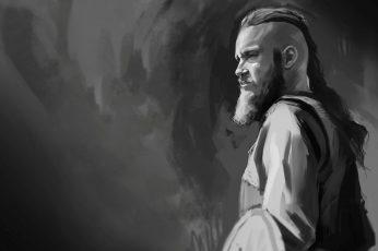 Vikings TV series digital wallpaper, Vikings (TV series), Ragnar Lodbrok