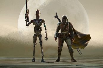 The Mandalorian series wallpaper, concept art