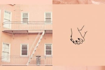 Peach aesthetic collage wallpapers