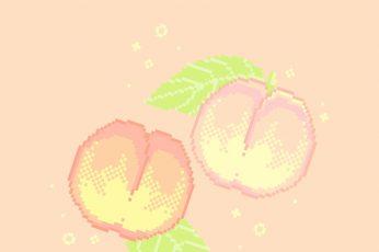 Peach aesthetic wallpaper pixel