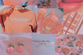 Vintage peach aesthetic wallpaper