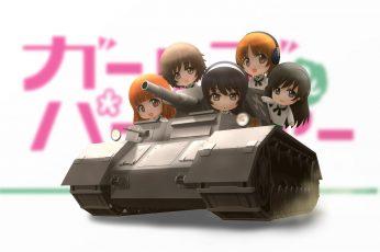 Wallpaper Akiyama, Chibi, Girls, Hana, Isuzu, Mako, Miho