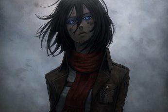 Wallpaper Anime, Attack On Titan, Black Hair, Blue Eyes