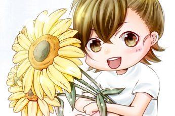 Wallpaper Anime, Chibi, Cute, Flower, Kawaii
