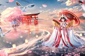 Wallpaper Artwork, Digital Art, Azur Lane, Nagato Azur
