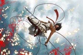 Wallpaper Attack On Titan Mikasa Wallpaper,