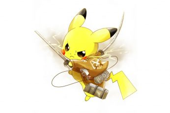 Wallpaper Attack On Titan Pikachu Wallpaper