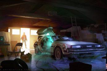 Wallpaper Back To The Future Movie Clip, Magic, Car,