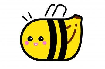 Wallpaper Bee, Banana, Insect, Fruit, Bienane, Vector