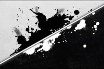 Wallpaper Black And White Splash Abstract Artwork
